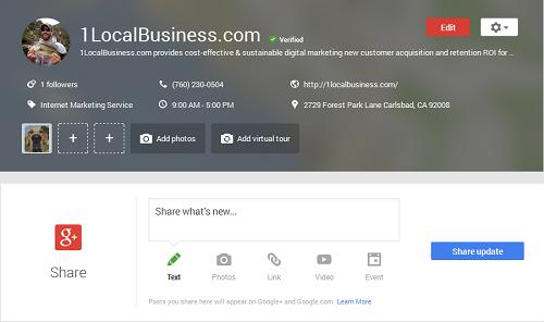 1LocalBusiness Carlsbad Google+