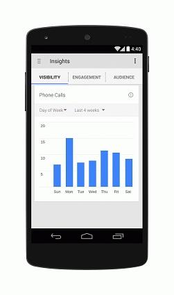 Google My Business App Insights