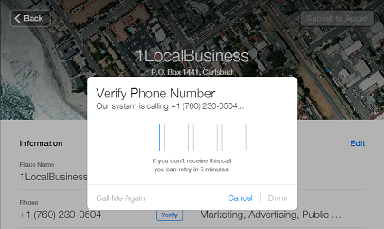 Apple Maps PIN Verification for Carlsbad Businesses