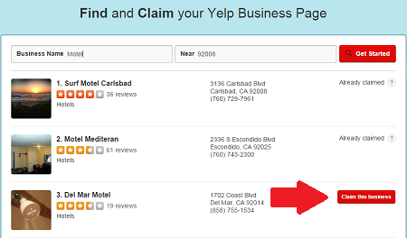 Yelp Business Pages Claim