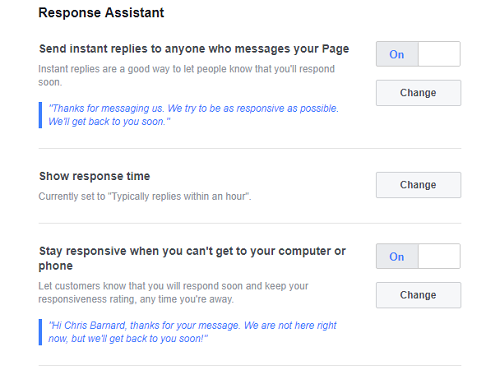Facebook Messenger Instant Replies for Local Businesses
