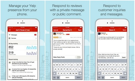Yelp App for Business Owners