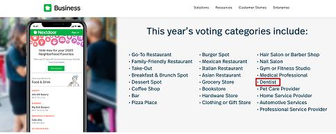 Get Votes for Neighborhood Favorites on Nextdoor
